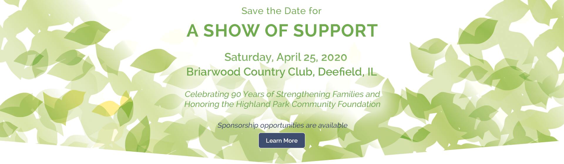 A Show of Support - save the date!