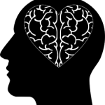 brain in the shape of a heart